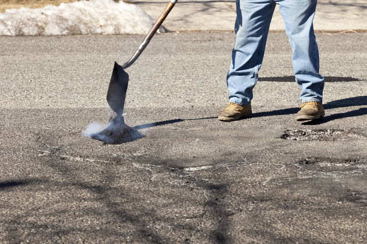 Pothole Filling by BG Paving, Inc